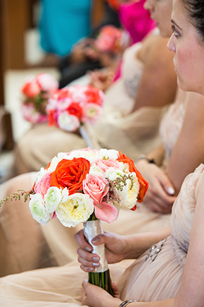 orange and pink wedding A Colorful Destination Wedding in Los Cabos, Mexico