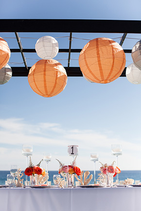 orange wedding details A Colorful Destination Wedding in Los Cabos, Mexico