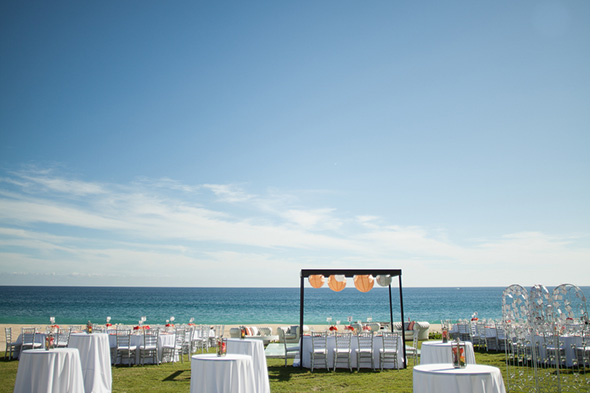 orange wedding lanterns A Colorful Destination Wedding in Los Cabos, Mexico