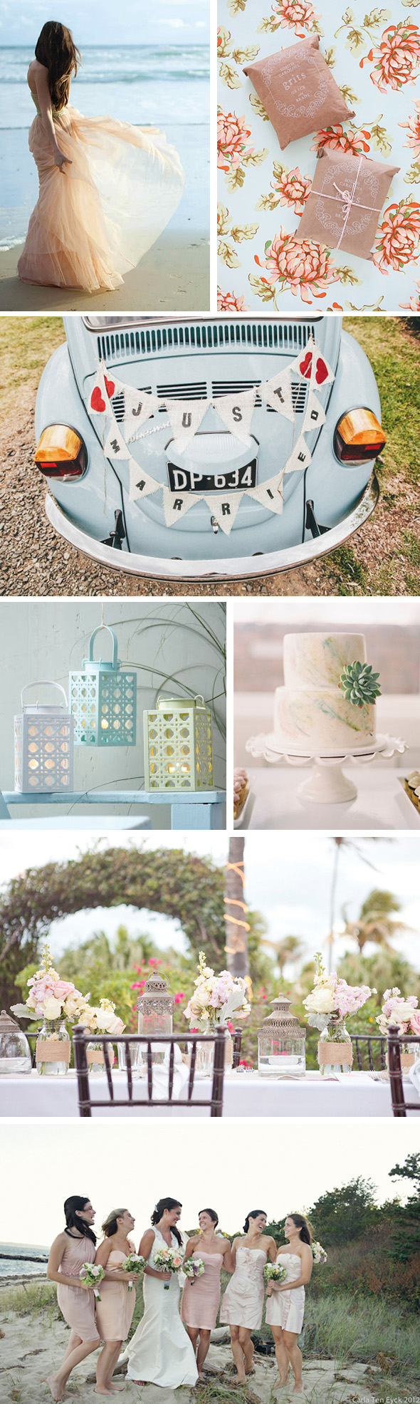 pastel beach weddings Pastel Weddings on the Beach
