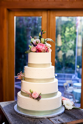 pink and white wedding cakes A Rustic Destination Wedding in Nashville, TN
