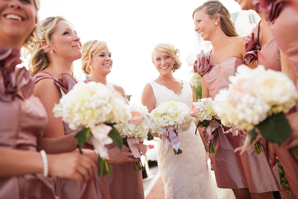 pink bridesmaid dresses A Modern Rosemary Beach, Florida Destination Wedding