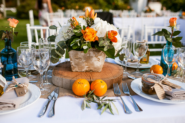 rustic orange weddings