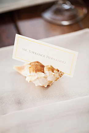 shell place cards A Cabo, Mexico Destination Wedding by the Beach