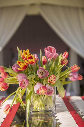 tulip wedding Tented Destination I Do in Florida