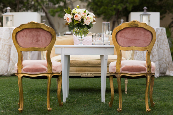 vintage wedding furniture A Modern Rosemary Beach, Florida Destination Wedding