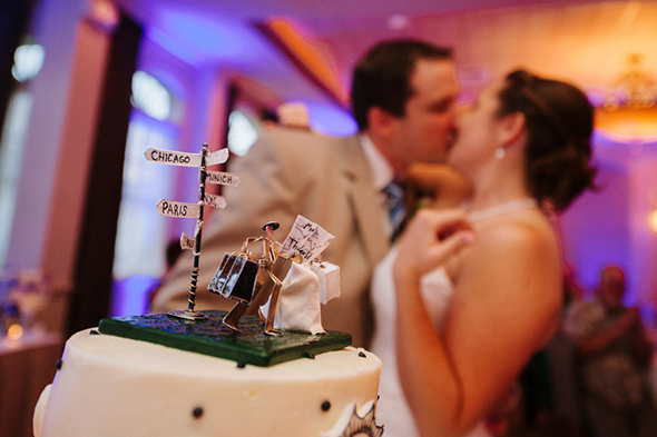 wedding cake toppers2 Travel Themed Destination Wedding in Maine