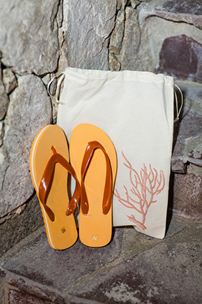 wedding flip flops A Colorful Destination Wedding in Los Cabos, Mexico