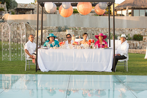 wedding head table A Colorful Destination Wedding in Los Cabos, Mexico