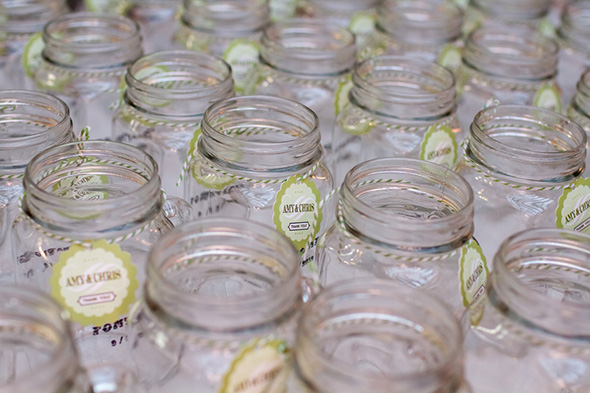 wedding mason jars A Rustic Destination Wedding in Nashville, TN