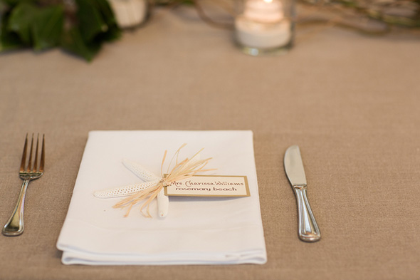 wedding place settings A Modern Rosemary Beach, Florida Destination Wedding