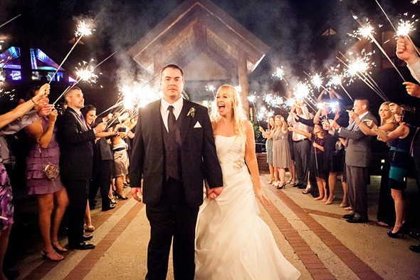 wedding sparklers A Rustic Destination Wedding in Nashville, TN