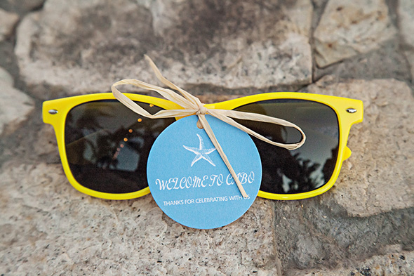 wedding sunglasses A Cabo, Mexico Destination Wedding by the Beach