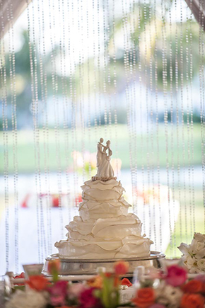 white wedding cakes Tented Destination I Do in Florida