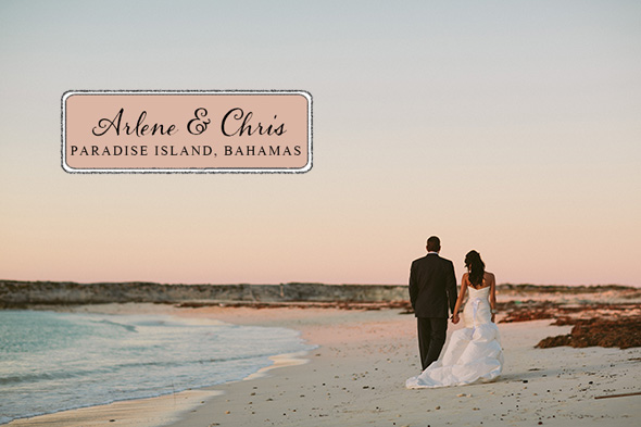 bahamas destination wedding A Brightly Colored Beach Wedding in the Bahamas