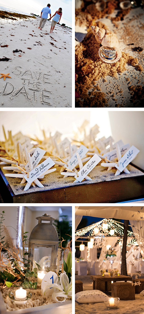 beach wedding ideas Beach Sand Wedding Inspiration