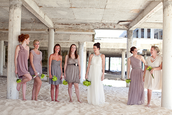 blush bridesmaid dresses A Beach Wedding in Punta Cana, Dominican Republic
