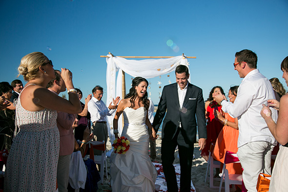 destination wedding bahamas A Brightly Colored Beach Wedding in the Bahamas