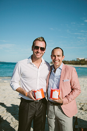 destination weddings A Brightly Colored Beach Wedding in the Bahamas