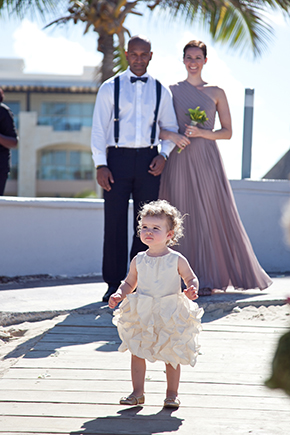 flower girl dresses A Beach Wedding in Punta Cana, Dominican Republic