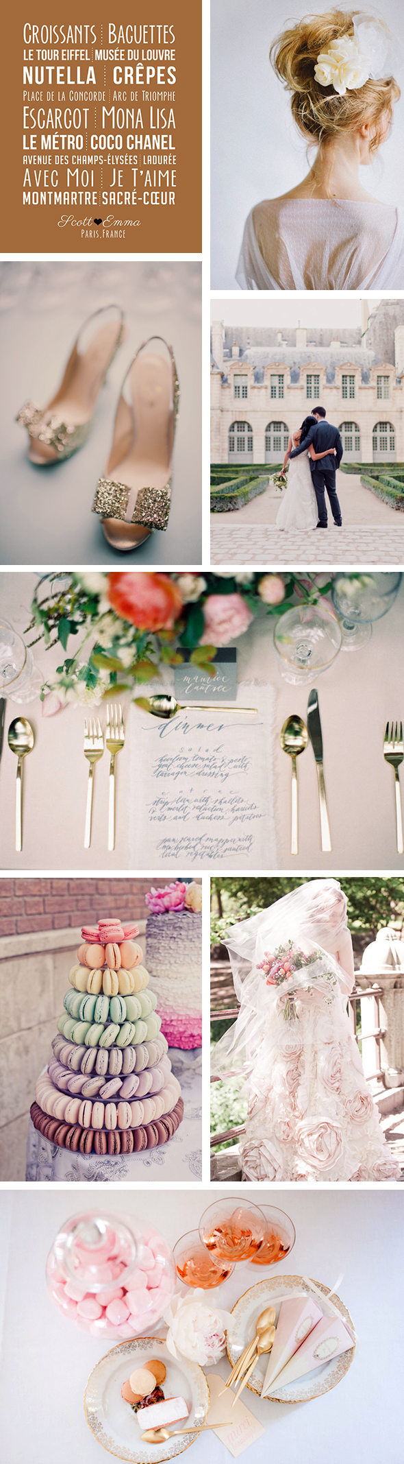 france destination weddings1 Whimsical Inspiration for a Paris Destination Wedding