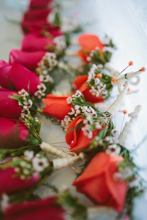 fuschia and orange wedding A Brightly Colored Beach Wedding in the Bahamas