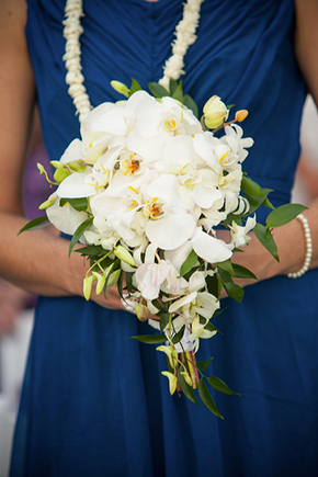 orchid bouquet Destination Wedding in Kona, Hawaii