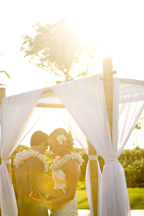 tropical wedding ceremony A Sweet Destination Wedding in Maui, Hawaii