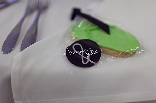 wedding cookie favors A Beach Wedding in Punta Cana, Dominican Republic