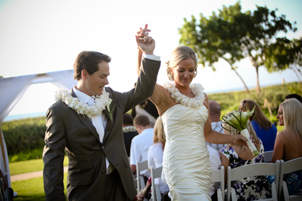 wedding leis A Sweet Destination Wedding in Maui, Hawaii