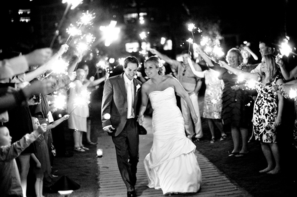 wedding sparklers1 A Sweet Destination Wedding in Maui, Hawaii