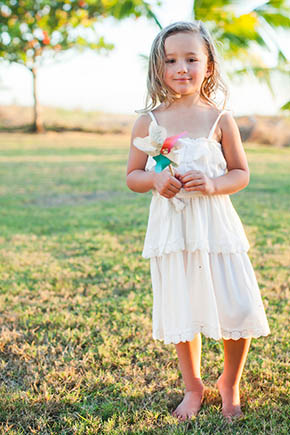 beach flower girl dress