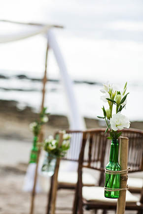 beach wedding2 A Rustic Beach Wedding in Tamarindo, Costa Rica