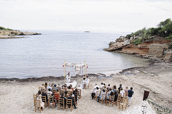 beach weddings Beach Destination Wedding in Ibiza, Spain