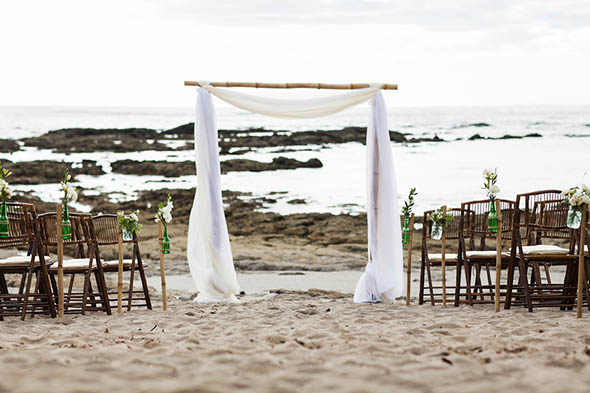 beach weddings3 A Rustic Beach Wedding in Tamarindo, Costa Rica