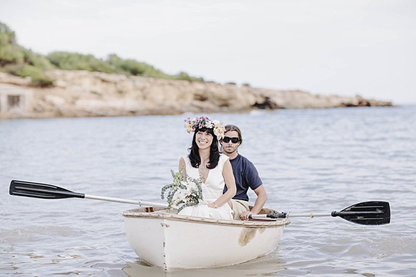 boat weddings Beach Destination Wedding in Ibiza, Spain