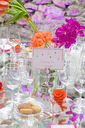 bright wedding colors A Colorful Destination Wedding on the Italian Riviera