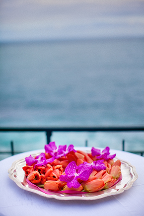 bright wedding flowers A Colorful Destination Wedding on the Italian Riviera