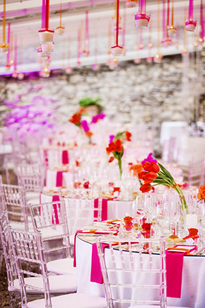 brightly colored weddings