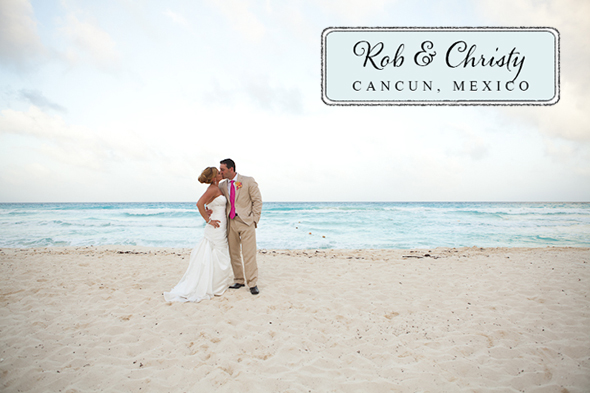 cancun destination wedding Beach Wedding in Cancun, Mexico