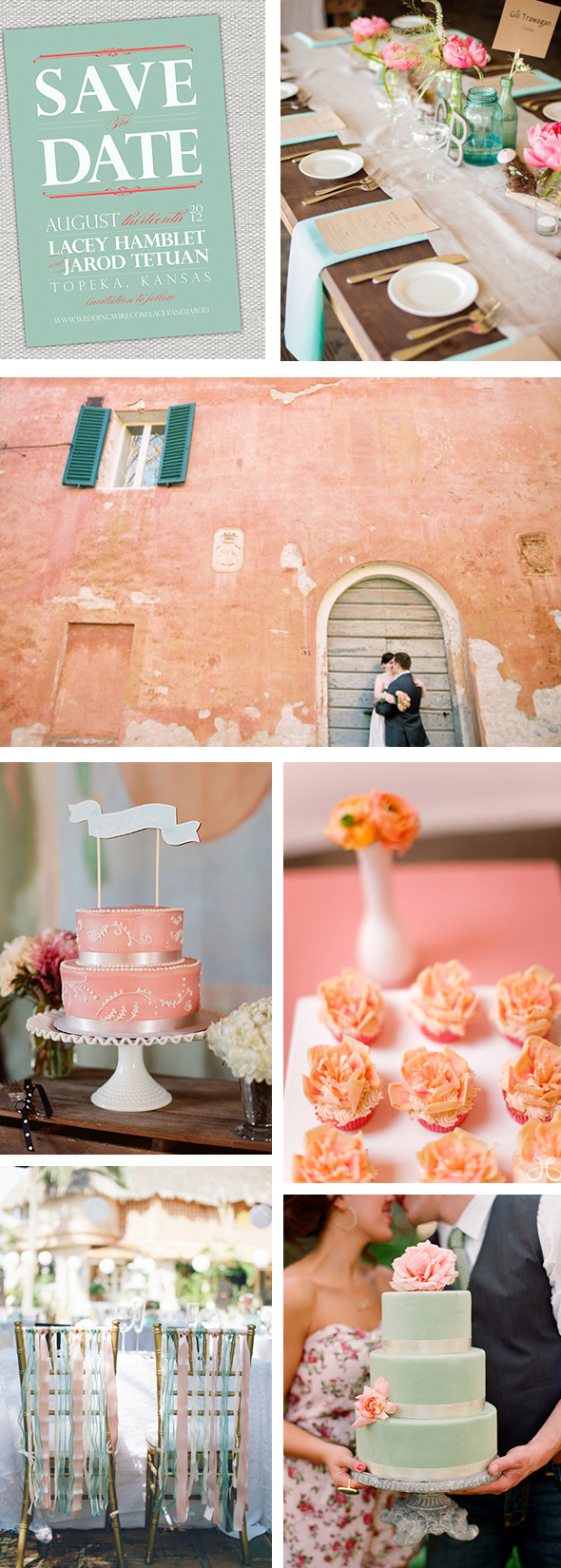 coral and turquoise weddings Refreshing Coral and Turquoise Wedding Ideas