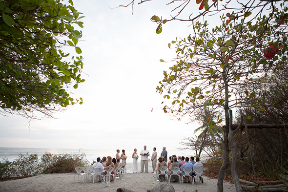 costa rica beach wedding1 Chevron Inspired Beach Wedding in Costa Rica