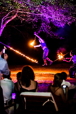 costa rica fire dancers A Tented Wedding in Costa Rica