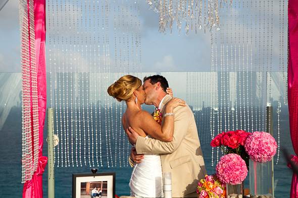 destination wedding ceremony Beach Wedding in Cancun, Mexico