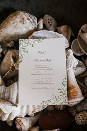 destination wedding invitation1 A Rustic Beach Wedding in Tamarindo, Costa Rica