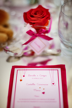 destination wedding menus