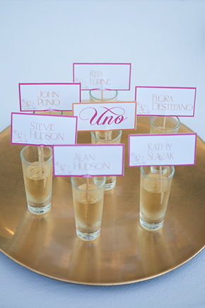 destination wedding place card ideas Beach Wedding in Cancun, Mexico