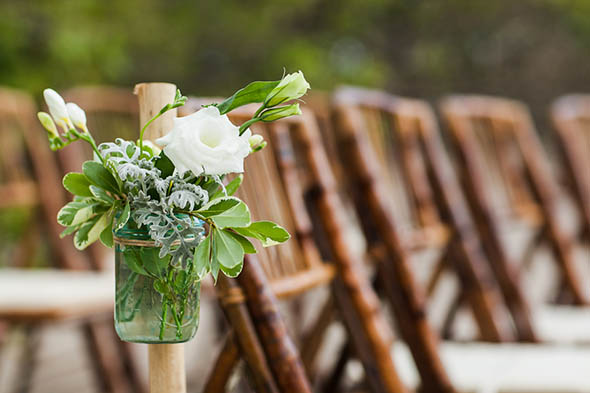 green and white weddings A Rustic Beach Wedding in Tamarindo, Costa Rica