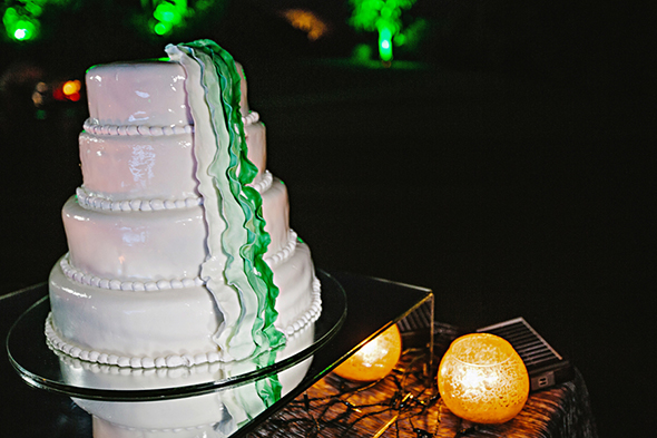 ombre wedding cake A Modern Destination Wedding in Cabo San Lucas, Mexico