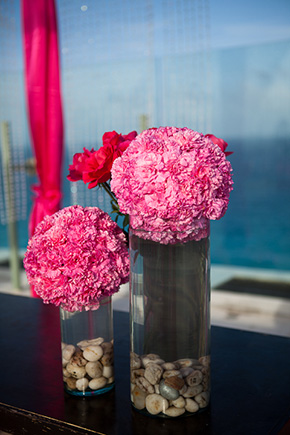pink wedding Beach Wedding in Cancun, Mexico